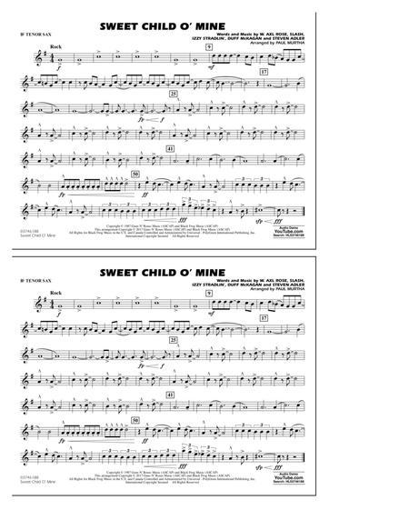 Sweet Child o' Mine - Bb Tenor Sax
