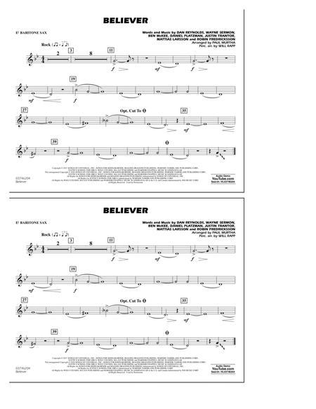 Believer - Eb Baritone Sax