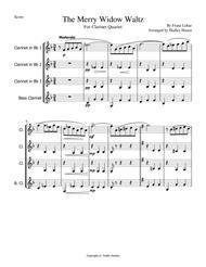 Merry Widow Waltz by Franz Lehar for Clarinet Quartet