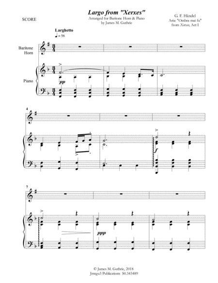Handel: Largo from Xerxes for Baritone Horn & Piano