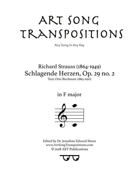 Schlagende Herzen, Op. 29 no. 2 (F major)