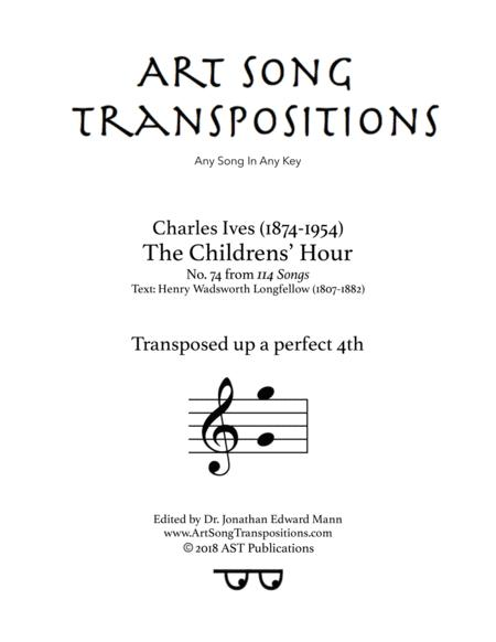 The Childrens' Hour (transposed up a perfect fourth)