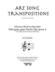 Eine gute, gute Nacht, Op. 59 no. 6 (G major)
