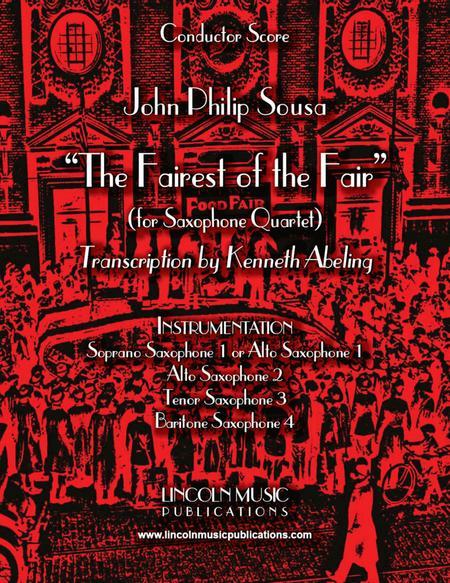 March – The Fairest of the Fair (for Saxophone Quartet SATB or AATB)