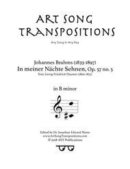 In meiner Nächte Sehnen, Op. 57 no. 5 (B minor)