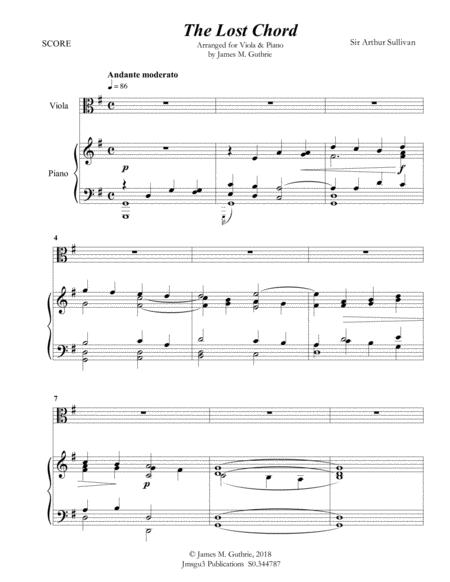 Download Sullivan The Lost Chord For Viola Piano Sheet Music By