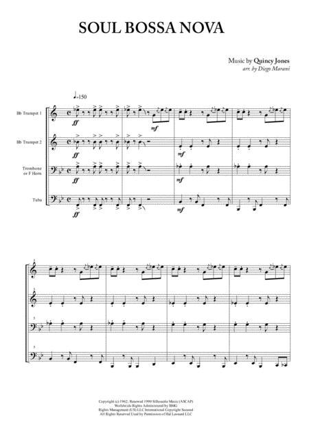 Soul Bossa Nova for Brass Quartet