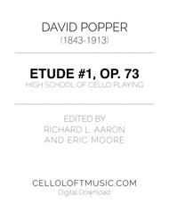 Popper (arr. Richard Aaron): Op. 73, Etude #1