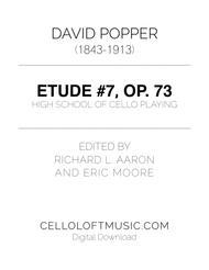 Popper (arr. Richard Aaron): Op. 73, Etude #7