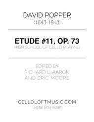 Popper (arr. Richard Aaron): Op. 73, Etude #11