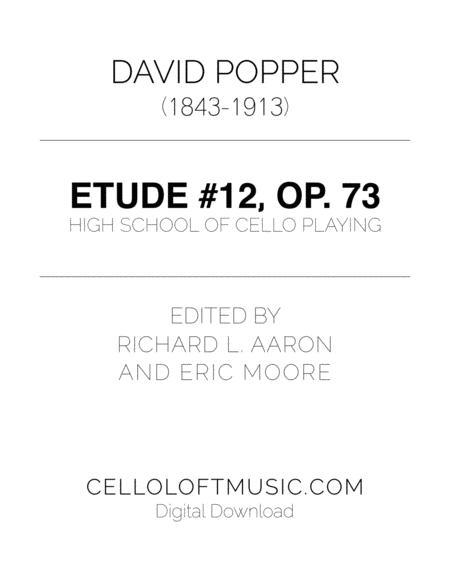 Popper (arr. Richard Aaron): Op. 73, Etude #12