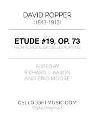 Popper (arr. Richard Aaron): Op. 73, Etude #19