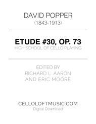 Popper (arr. Richard Aaron): Op. 73, Etude #30