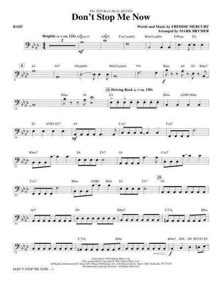 Don't Stop Me Now (arr. Mark Brymer) - Bass