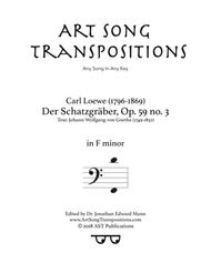 Der Schatzgräber, Op. 59 no. 3 (F minor, bass clef)