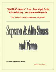 Anitra's Dance - From Peer Gynt - Soprano & Alto Saxaphones and Piano