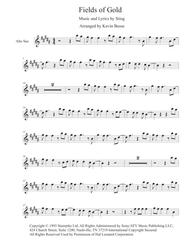 Fields Of Gold (Original Key) - Alto Sax