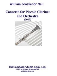 Concerto for Piccolo Clarinet and Chamber Orchestra (2017)