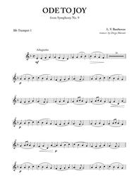 Ode To Joy (from Symphony No. 9) for Brass Quintet