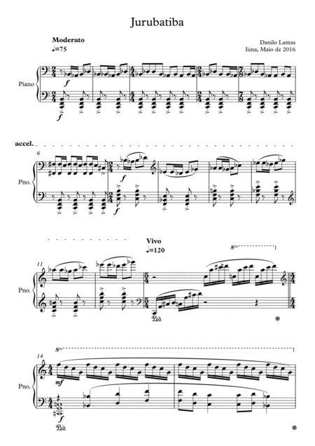 Jurubatiba (for Piano solo)