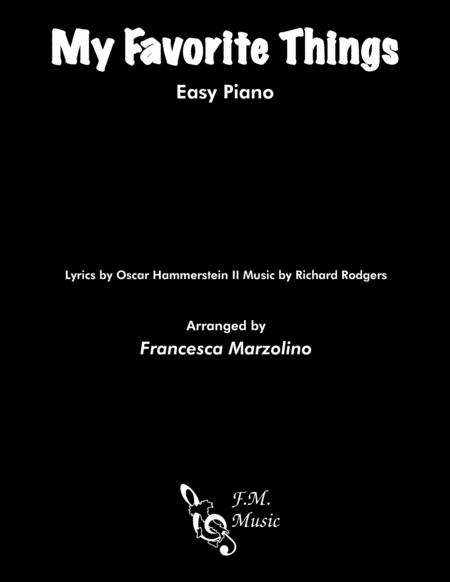 My Favorite Things (Easy Piano)