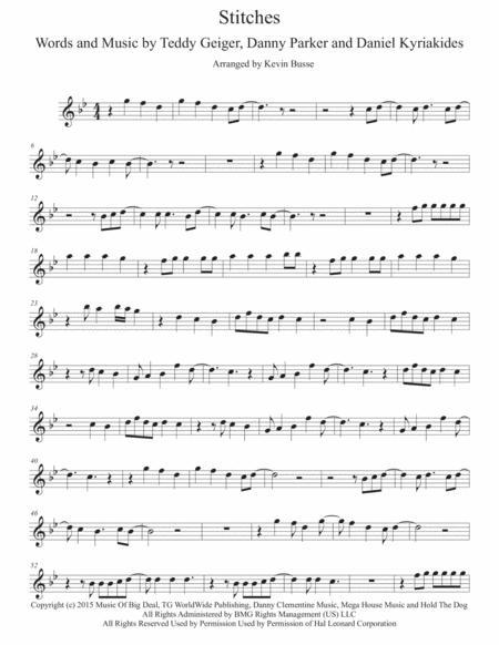 stitches (original key) - alto sax by shawn mendes - digital sheet music  for individual part,sheet music single,solo part - download & print  h0.348003-266448 | sheet music plus  sheet music plus