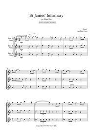 St James' Infirmary. Flute Trio