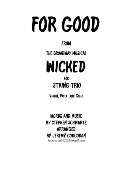 For Good for String Trio