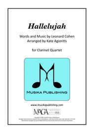 Hallelujah - for Clarinet Quartet