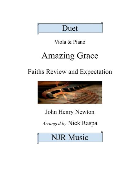 Amazing Grace (duet) - Viola and Piano - Full Set
