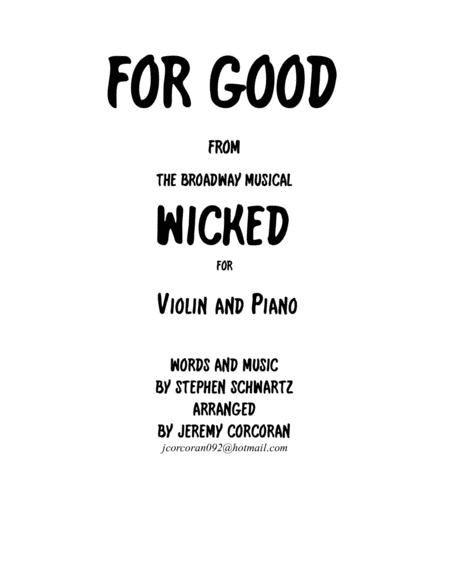 For Good for Solo Violin and Piano