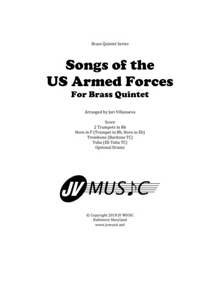 Songs of the US Armed Forces for Brass Quintet