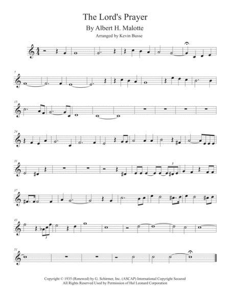 The Lord's Prayer (Original key) - Violin
