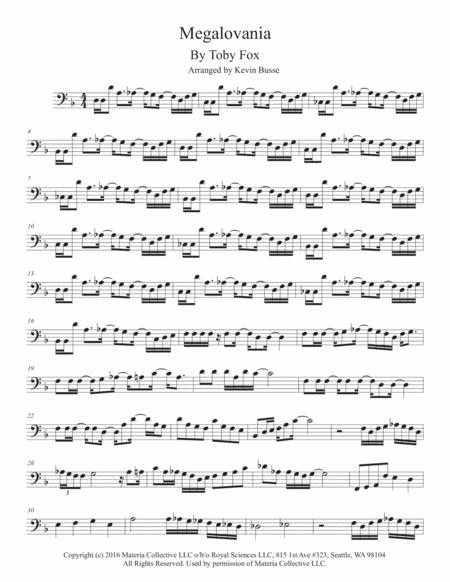 megalovania sheet music