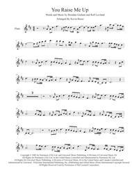 Download You Raise Me Up - Flute Sheet Music By Josh Groban - Sheet