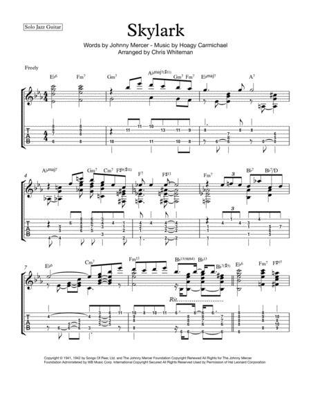 Skylark - Jazz Guitar Chord Melody