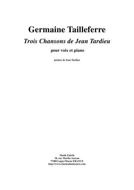 Preview Germaine Tailleferre Trois Chansons De Jean Tardieu