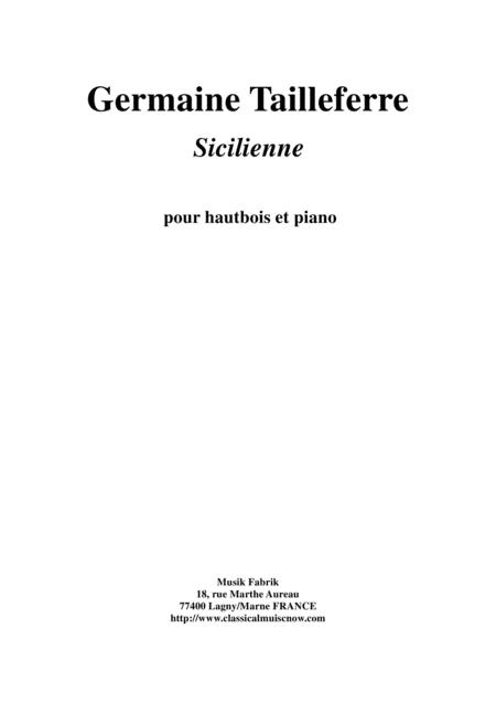 Germaine Tailleferre: Sicilienne for oboe and piano