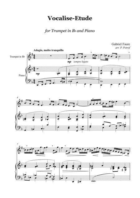 G. Faure - Vocalise-Etude - Trumpet and Piano