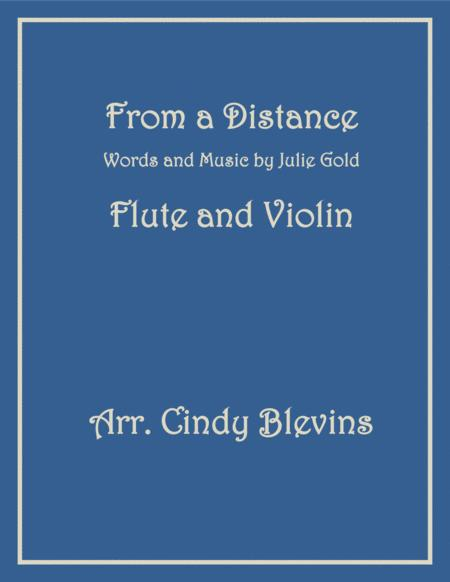 From A Distance, arranged for Flute and Violin
