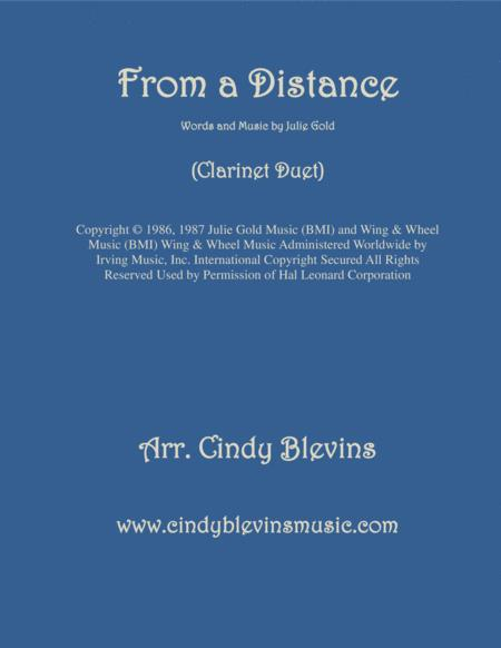 From A Distance, arranged for Clarinet Duet
