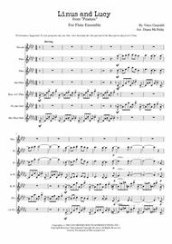 Linus And Lucy (from Peanuts) for Flute Ensemble