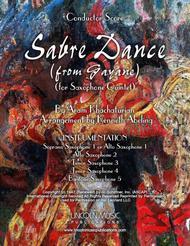 Khachaturian - Sabre Dance from Gayane (for Saxophone Quintet SATTB or AATTB)