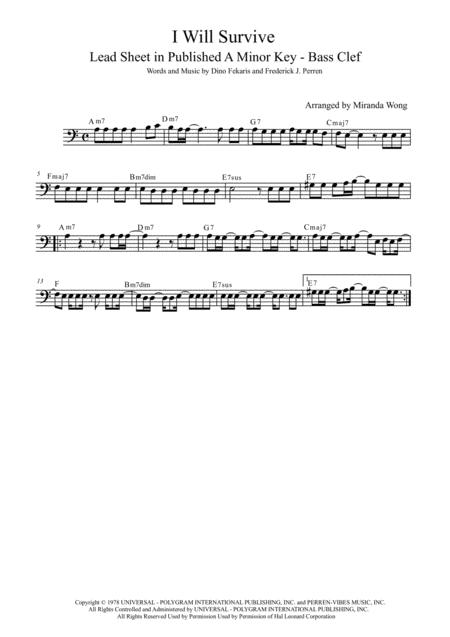 Download I Will Survive - Bassoon Or Trombone Solo In Published A ...