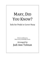Mary, Did You Know?, Harp Solo