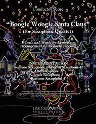 Boogie Woogie Santa Claus (for Saxophone Quartet SATB or AATB)