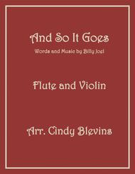 And So It Goes, arranged for Flute and Violin