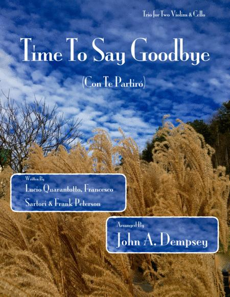 Time To Say Goodbye (String Trio for Two Violins and Cello)