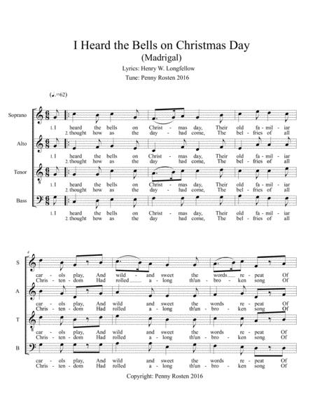 I Heard The Bells On Christmas Day Lyrics.Preview I Heard The Bells On Christmas Day Madrigal By