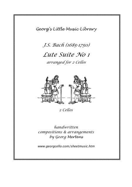 J.S. Bach Lute Suite No 1 arr. for 2 cellos